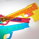 輪ゴムのピストル「Peace Gun」